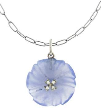 Cathy Waterman 13.50 Carat Chalcedony 4-Petal Wildflower Charm - Platinum