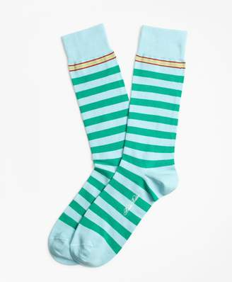 Brooks Brothers Rugby Stripe Crew Socks
