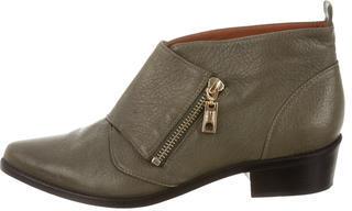 Rebecca MinkoffRebecca Minkoff Leather Round-Toe Booties