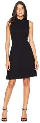 Nine West Sleeveless Mockneck Fit Flare Dress Women's Dress