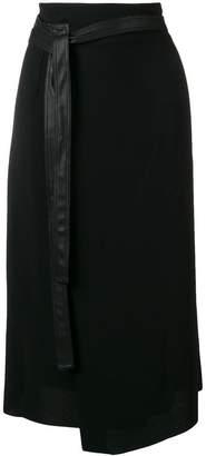 Vince knot detail midi skirt