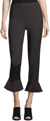Tahari ASL Ruffle-Cuff Cropped Pants