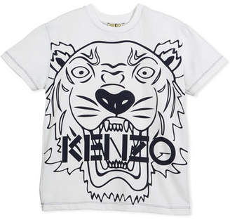 Kenzo Oversized Tiger Face Graphic T-Shirt, Size 14-16