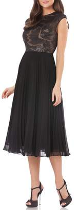 Carmen Marc Valvo Pleated Skirt