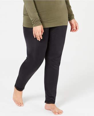 Cuddl Duds Plus Size Softwear Lace-Trim Stretch Leggings