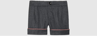 Baby wool cashmere flannel short $310 thestylecure.com