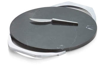 Cabo Black Marble Cheese Board w/ Knife