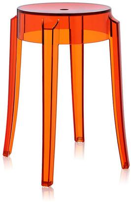 Kartell Charles Ghost Stool - Orange - 46cm