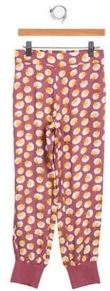 Stella McCartney Girls' Elasticized Floral Print Bottoms