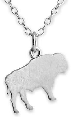 Buffalo David Bitton Azaggi Sterling Silver Handcrafted Extinct Wild Animal Silhouette Pendant Necklace