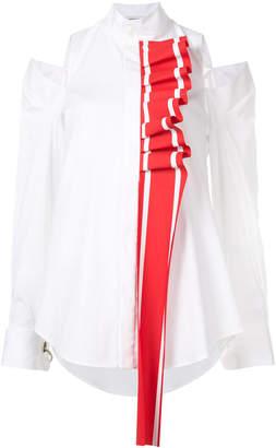 Racing Stripe Ruffle detail blouse