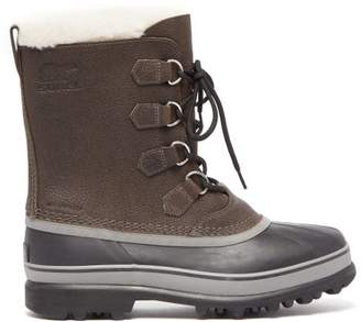 Caribou Leather Snow Boots - Mens - Black