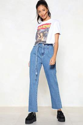Nasty Gal Above and Beyond Paperbag Jeans
