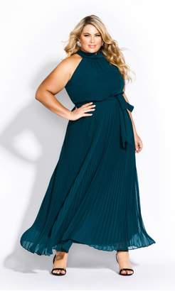 City Chic Citychic Honour Maxi Dress - emerald