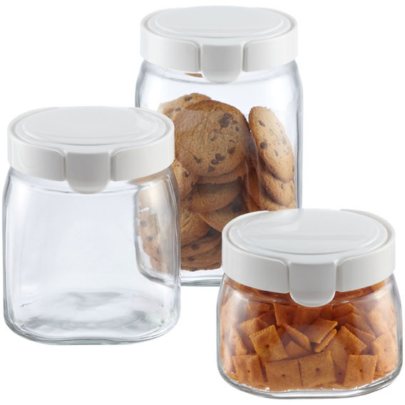 Container Store FlipTop Glass Canisters