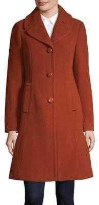 Kate Spade Bow Back Single-Breasted Wool-Blend Coat