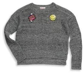 Design History Girl's Hi-Lo Knit Sweater