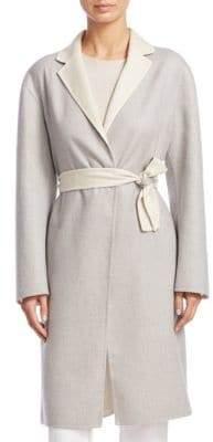 Fabiana Filippi Wool-Blend Wrap Coat