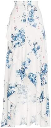 Off-White x Browns floral print maxi ruffle skirt