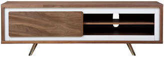 One Kings Lane Hal Small Media Console - White/Walnut