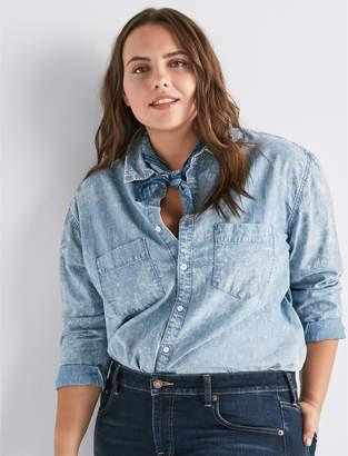 Lucky Brand Plus Denim Boyfriend Shirt