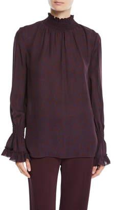Kobi Halperin Colette Mock-Neck Blouse in Silk