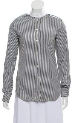 Celine Striped Long Sleeve Top Black Striped Long Sleeve Top