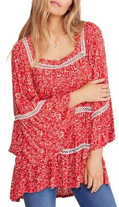 Free People Talk About It Floral Print Tunic
