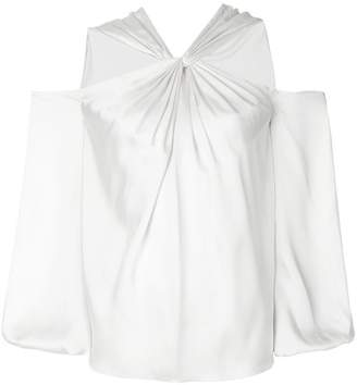 Elizabeth and James cut-out knot blouse