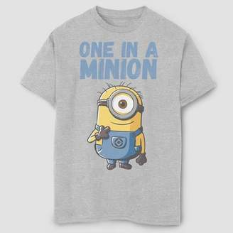 Fifth Sun Boys' Despicable Me Minions One In A Million T-Shirt - Gray