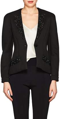 Giorgio Armani WOMEN'S CRYSTAL-EMBELLISHED KNIT ONE-BUTTON BLAZER