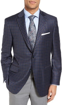 Men's Peter Millar Classic Fit Check Wool Sport Coat $595 thestylecure.com