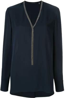 Elie Tahari Emara embellished blouse