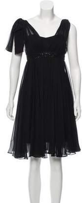Marchesa Chiffon Midi Dress