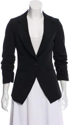 Elizabeth and James Structured Ruched Blazer