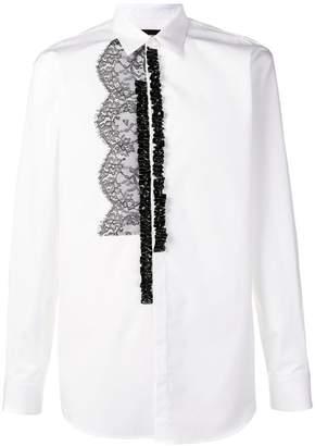 DSQUARED2 lace detail shirt