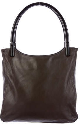 prada Prada Leather Shopper Tote