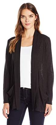 Calvin Klein Jeans Women's Shawl Collar Rib Cardigan Sweater $69.50 thestylecure.com