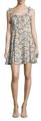 ASTR the Label Floral Cotton A-Line Dress