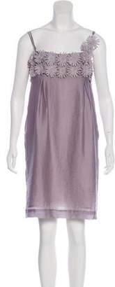 By Malene Birger Floral-Embellished Mini Dress