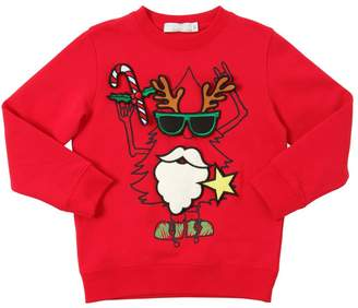 Stella McCartney Christmas Tree Cotton Sweatshirt