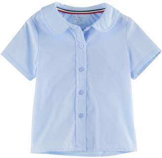 Toddler Girl French Toast Button-Front Peter Pan Blouse