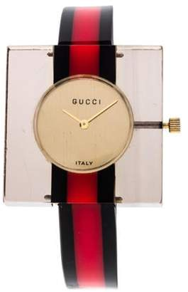 Gucci Lucite Wind Up Watch champagne Lucite Wind Up Watch