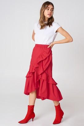 Andrea Hedenstedt X Na Kd Overlap Maxi Frill Skirt