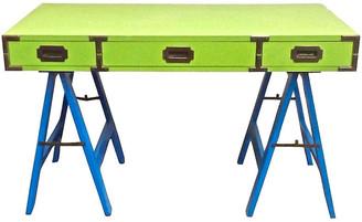 One Kings Lane Vintage 1960s Campaign Desk - Vermilion Designs