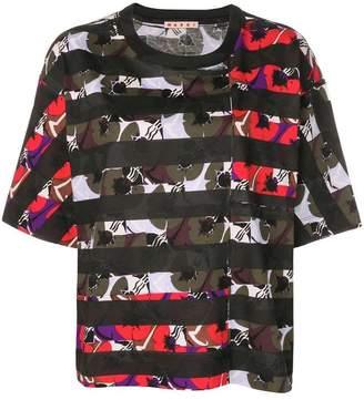 Marni striped large T-shirt