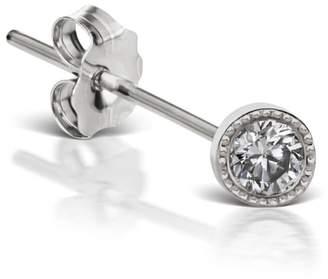 Maria Tash Scallop Edge Diamond Stud Earring - White Gold