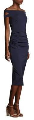 Trina Turk Off-The-Shoulder Sheath Dress