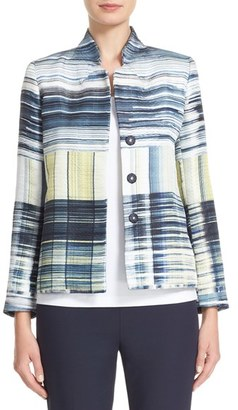 Women's Lafayette 148 New York Randall Print Jacquard Jacket $698 thestylecure.com