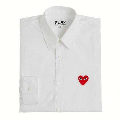 J.Crew PLAY Comme des Garçons® red heart button-down shirt